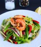 Прерванный тайский салат креветок стоковое изображение