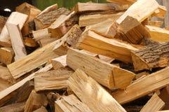 прервано вниз с древесины стоковое изображение