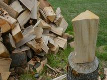 Прерывать древесину на блоке акции видеоматериалы