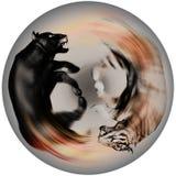 Преследование пантеры и тигра бесплатная иллюстрация