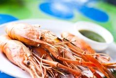 пресноводные продукты моря креветки Стоковая Фотография