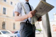 Пресса деловых новостей средств массовой информации информации ежедневная Стоковые Фотографии RF