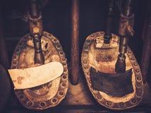 Пресса insole ботинка формируя Стоковое фото RF