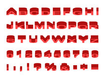 Прессованная верхняя часть шрифта angled Стоковое Изображение RF