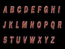 Прессованный текст огня  Стоковые Фотографии RF