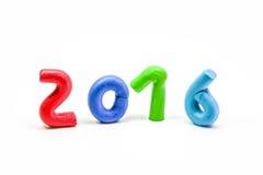 Прессформа 2016 глины на белой предпосылке Стоковое Изображение RF
