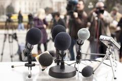 Пресс-конференция Стоковые Фото