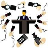Пресс-конференция Стоковое Изображение RF