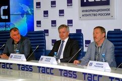 Пресс-конференция 38th международного кинофестиваля Москвы Стоковое Фото