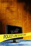 преступление в компьютерной сфере Стоковое Фото