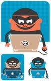 Преступление в компьютерной сфере Стоковые Изображения