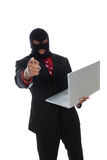 преступление в компьютерной сфере Стоковое фото RF