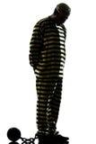 Преступник пленника человека с цепным шариком Стоковая Фотография