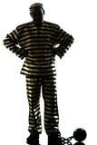 Преступник пленника человека с цепным шариком Стоковые Изображения