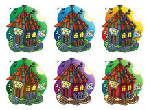 Преследовать иллюстрация шаржа дома Стоковые Фото
