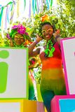 Претория, Южная Африка, 09/24/2016, 2 африканских девушки в яркой стоковые фотографии rf