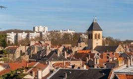 Преувеличенный-Seille район города Меца, Лорена, Франции Стоковые Изображения