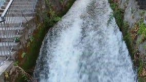 Префектура EÎ'εσσα Пеллы водопадов Edessa, македония, Греция акции видеоматериалы