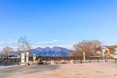 Префектура Gunma, Япония - 18-ое декабря 2016: Ikaho Onsen на autu Стоковые Изображения RF
