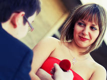 Предлагать замужество Стоковая Фотография RF