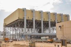 предварительный конденсатор воздуха охладил силу потери парника излучения электричества в отношении к окружающей среде низкую мин стоковое изображение rf