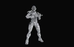 Предварительный супер солдат Стоковое Изображение RF