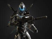 Предварительный супер солдат Стоковые Изображения RF