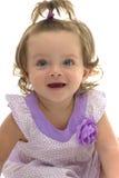 Прелестные голубые глазы молодой кавказской девушки Стоковая Фотография RF