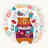 Прелестный медведь иллюстрация штока