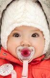Прелестный младенец с pacifier Стоковые Фото