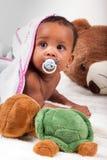 прелестный ребёнок афроамериканца немногая стоковое изображение rf