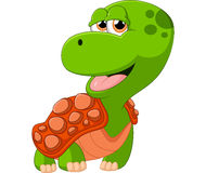 Прелестный шарж черепахи Стоковые Изображения RF