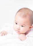 Прелестный newborn азиатский младенец Стоковое Изображение