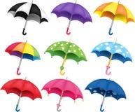 предметы изолированные предпосылкой установили вектор зонтиков белым Стоковое Изображение