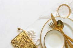 Предметы первой необходимости свадебного банкета Стоковая Фотография RF