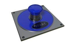 предмет кнопки близкий сверх начинает вверх белизну Стоковое фото RF
