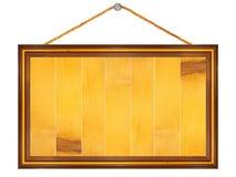 предмет над деревянным signboard белое стоковое изображение