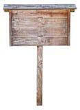 предмет над деревянным signboard белое Стоковое фото RF
