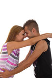 Предназначенная для подростков влюбленность Стоковая Фотография