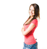 предназначенное для подростков брюнет милое Стоковое Фото