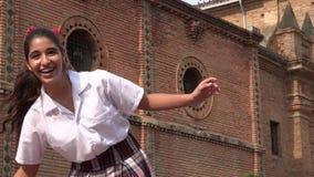 Предназначенные для подростков танцы Hiphop девушки Стоковые Изображения
