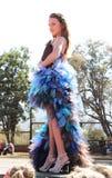 Предназначенный для подростков конкурс красоты девушки на фестивале Южной Африке Стоковая Фотография RF