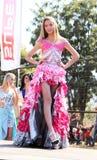 Предназначенный для подростков конкурс красоты девушки на фестивале Южной Африке Стоковое Изображение