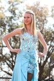 Предназначенный для подростков конкурс красоты девушки на фестивале Южной Африке Стоковое фото RF