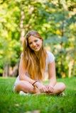 Предназначенный для подростков портрет природы девушки Стоковая Фотография RF