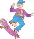 Предназначенный для подростков скейтбордист иллюстрация штока