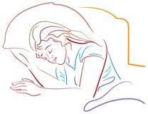 Предназначенный для подростков сон иллюстрация вектора