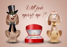 Предложение замужества иллюстрация вектора