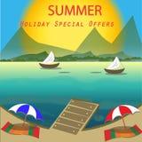 Предложения летнего отпуска специальные Стоковое Изображение RF