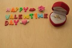 Предложите кольцо на день валентинки стоковое изображение rf